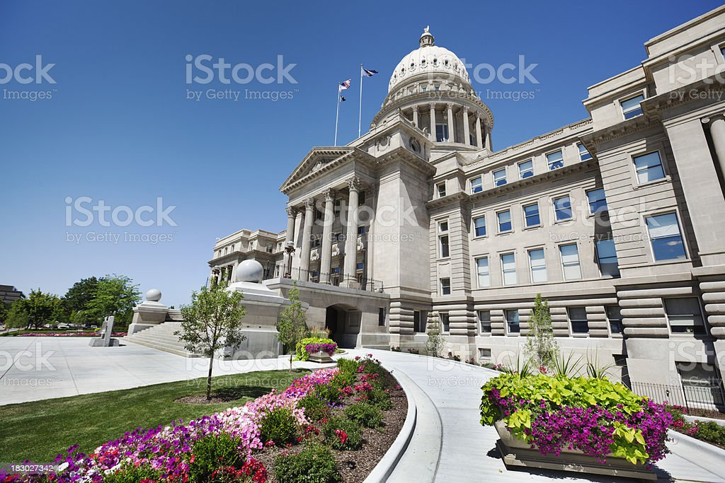 Idaho State Capitol in Boise Vt royalty-free stock photo