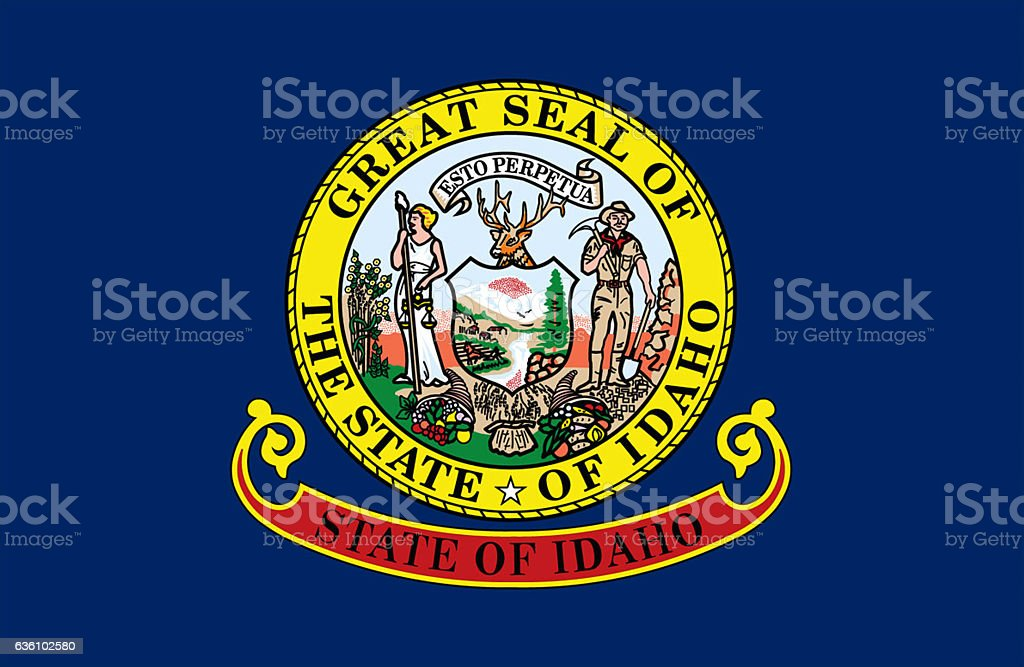 Idaho State Flag stock photo