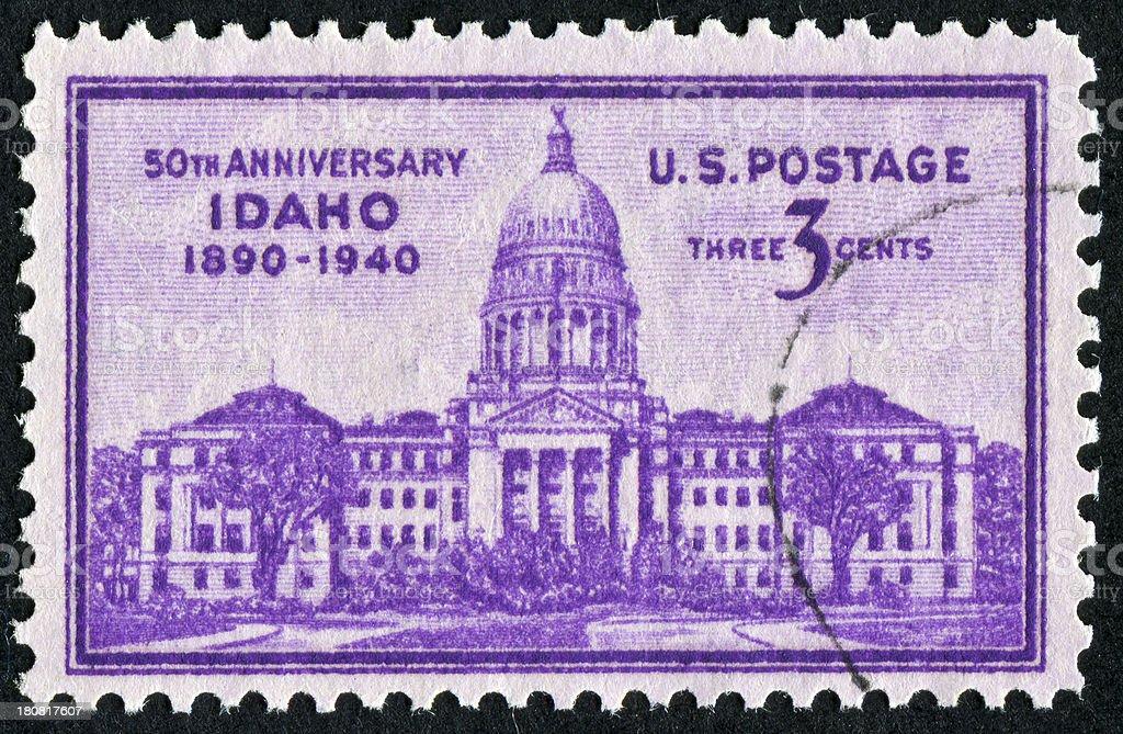 Idaho Statehood Stamp royalty-free stock photo