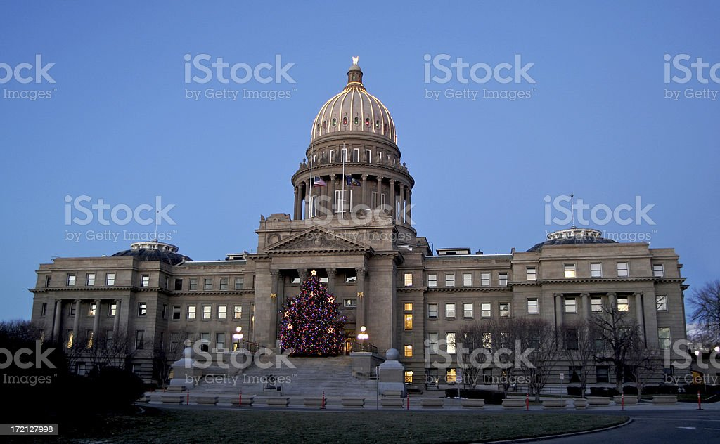 Idaho Statehouse Christmas Tree royalty-free stock photo