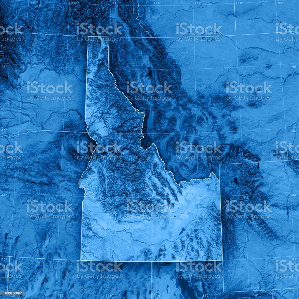 Idaho Topographic Map royalty-free stock photo