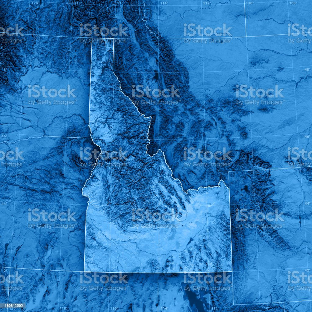 Idaho Topographic Map stock photo