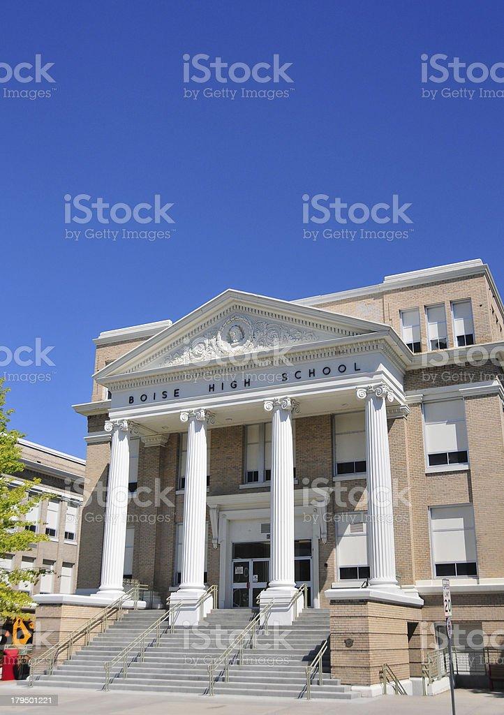 Idaho, USA: Boise High School royalty-free stock photo