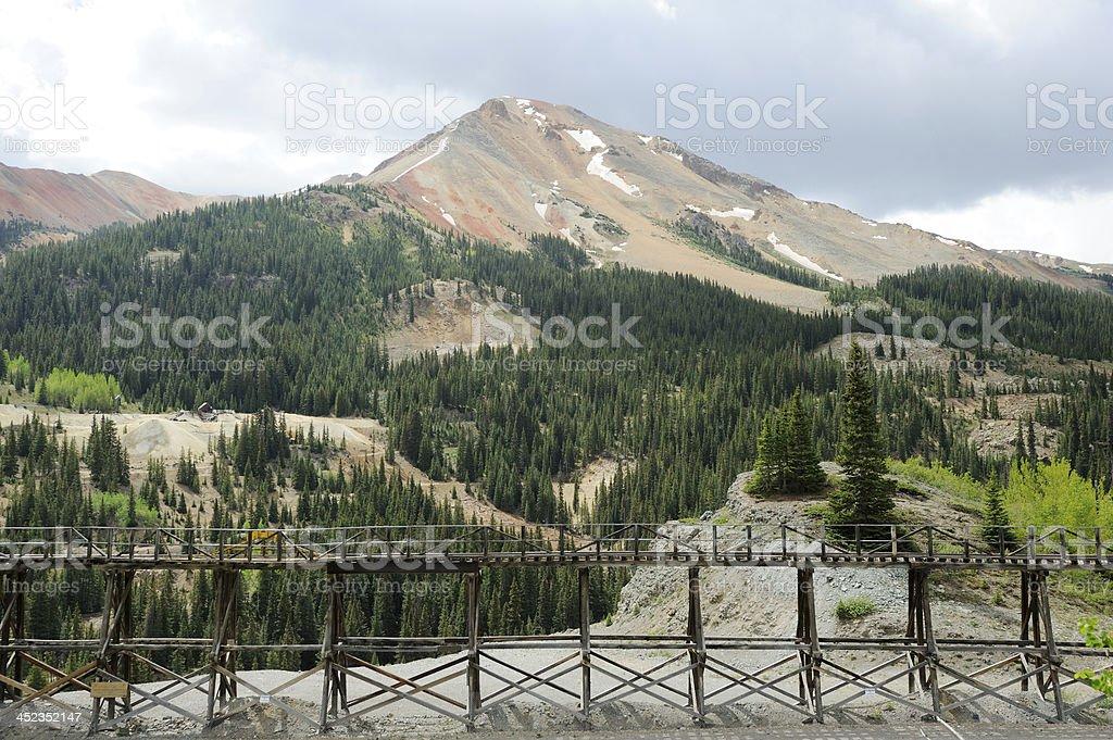 Idarado Mine Colorado stock photo
