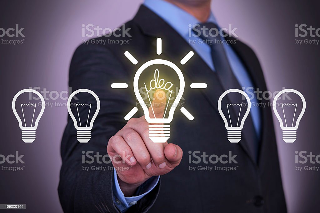 Idea Choose on Visual Screen stock photo