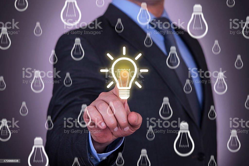 idea choosing stock photo