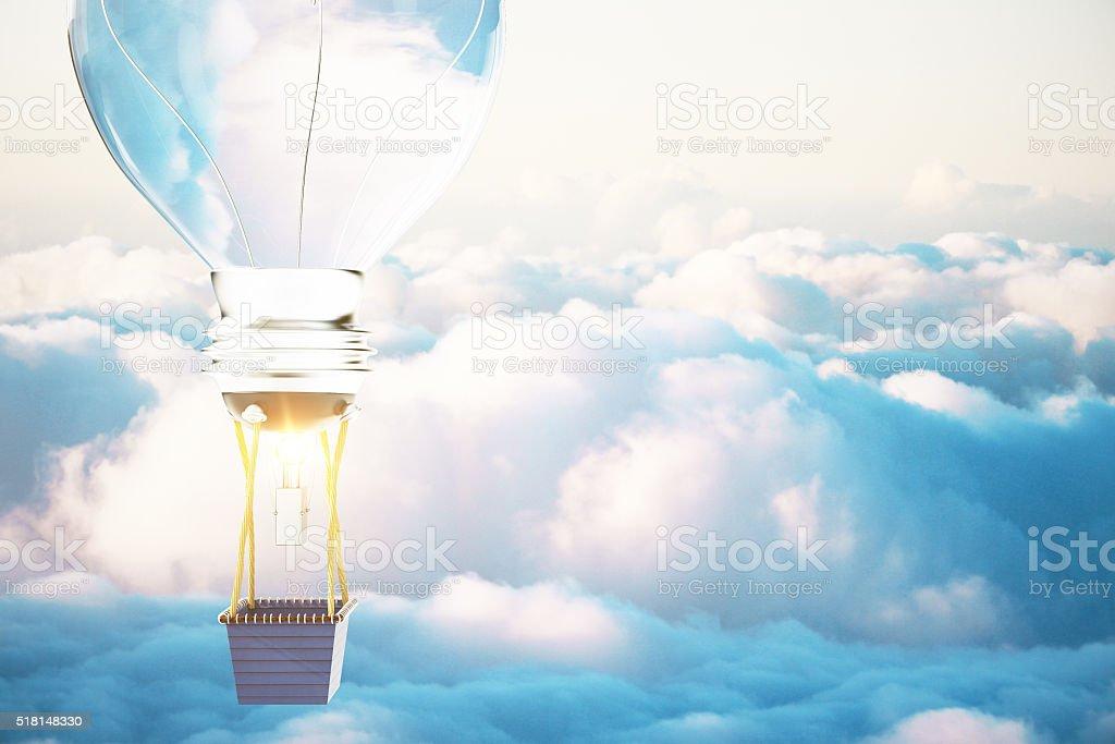 Idea concept blue sky stock photo