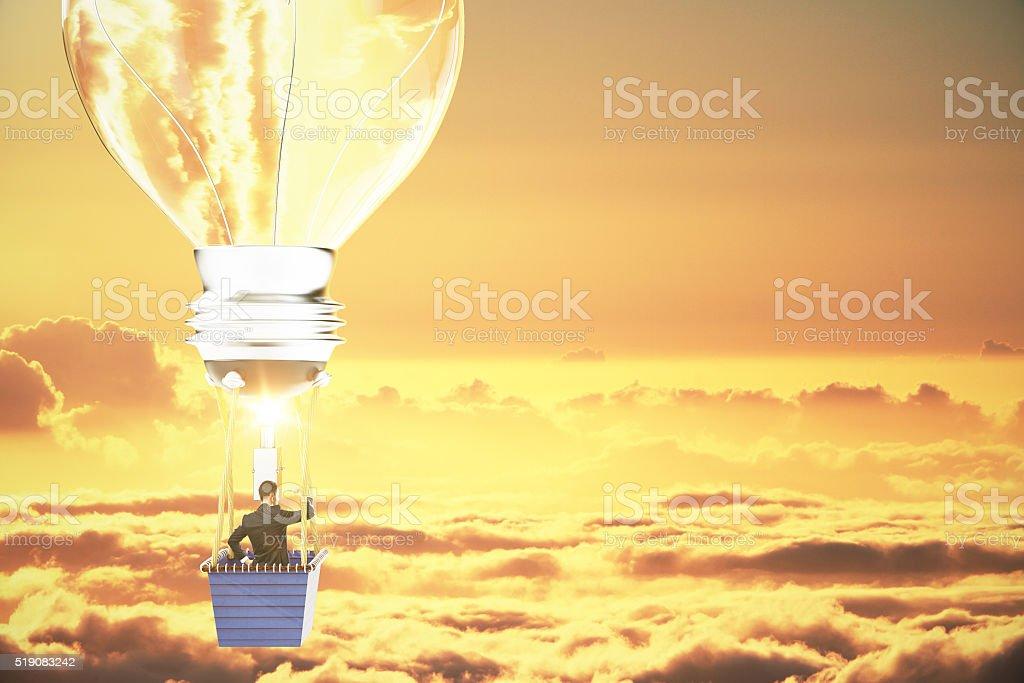 Idea concept businessman stock photo