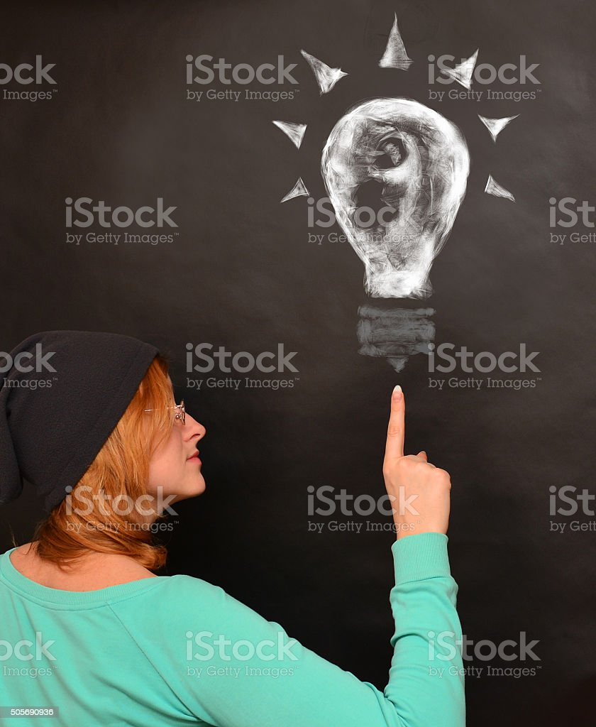 Idea concept. Energy, power, success concept. Education, scientific picture stock photo