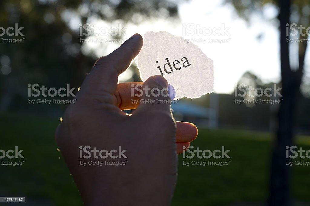 Idea concept. royalty-free stock photo