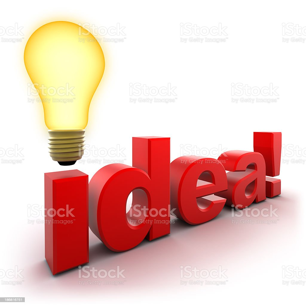 Idea concept with light bulb, clipping path included royalty-free stock photo