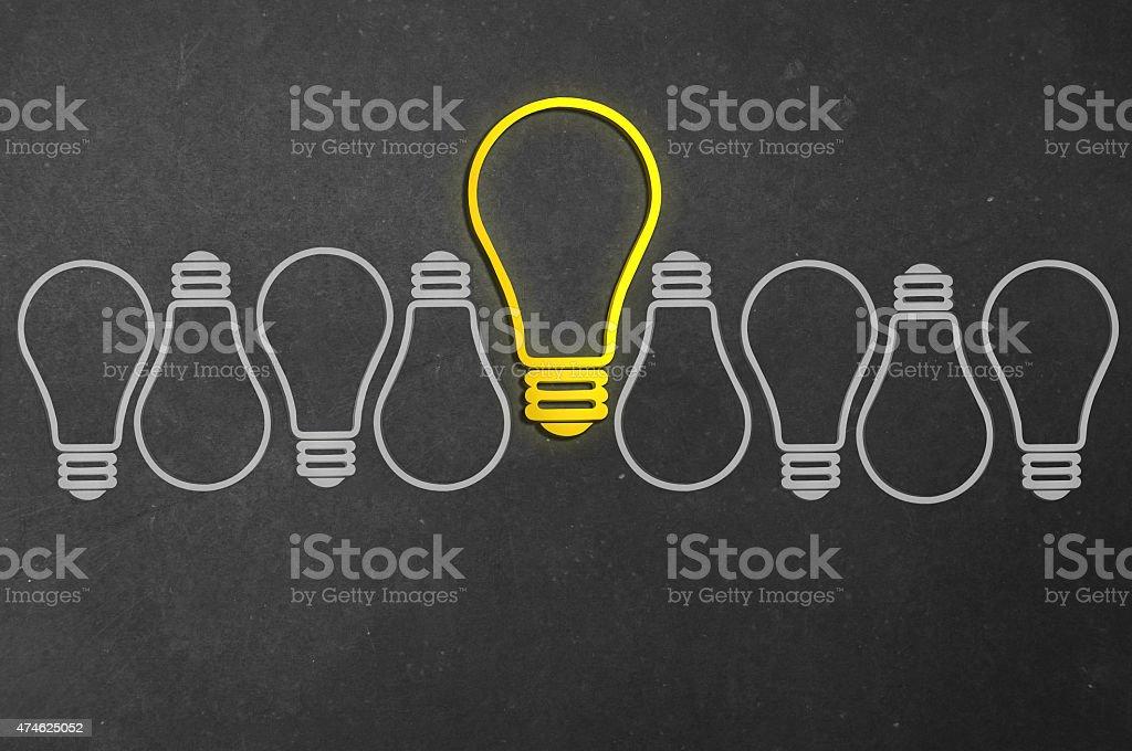 Idea - Concepts - Bulb - Blackboard Series stock photo