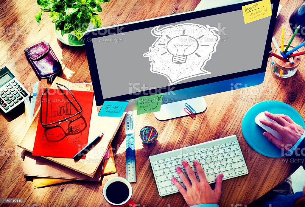 Idea Creative Creativity Imagination Innovate Thinking Concept stock photo