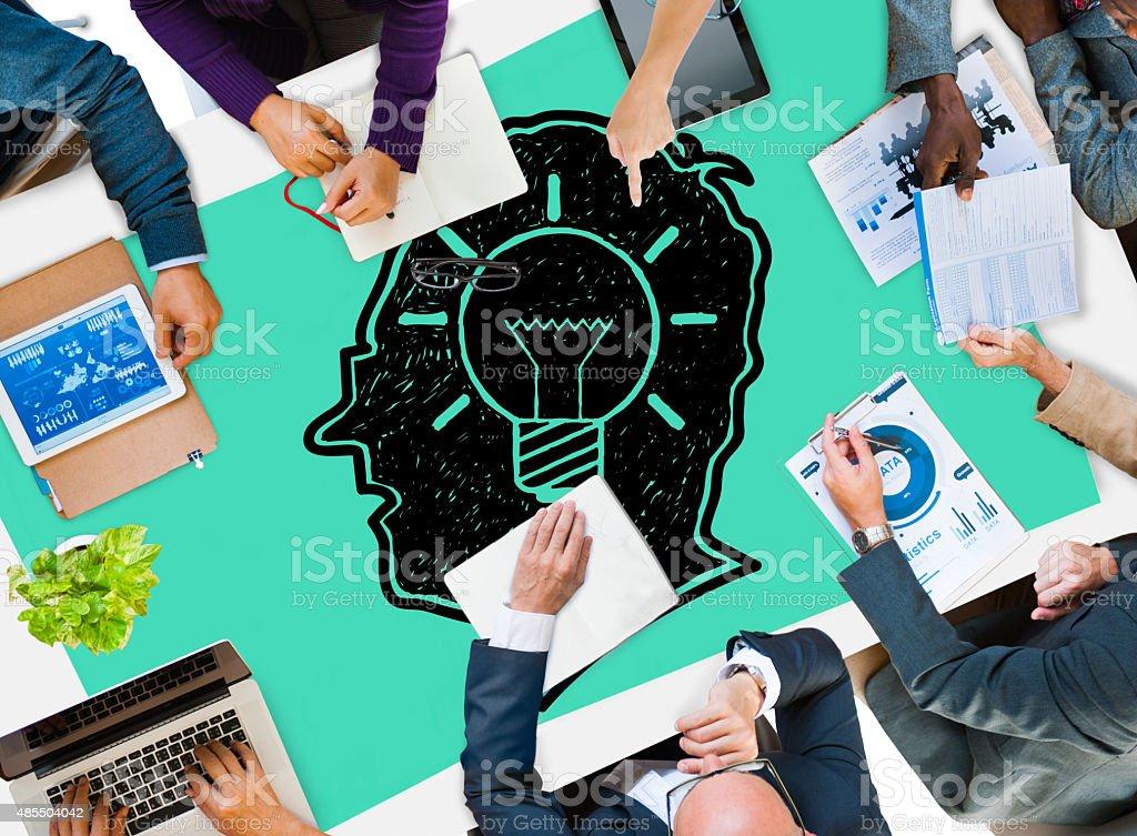 Idea Creative Creativity Imgination Innovate Thinking Concept stock photo