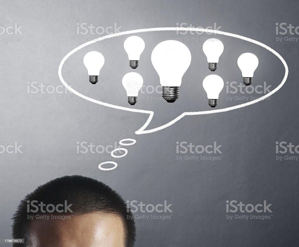 idea, drawn light bulb royalty-free stock photo