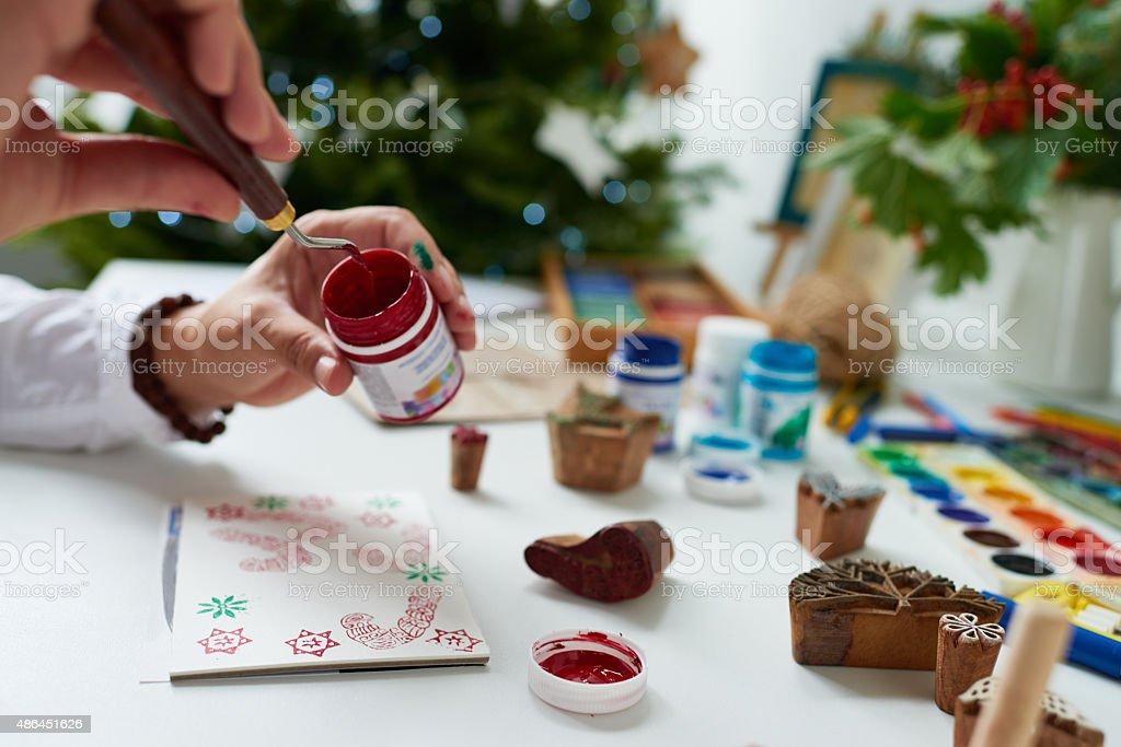 Idea for Christmas card stock photo