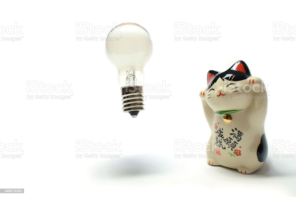 idea is born from the beckoning cat stock photo