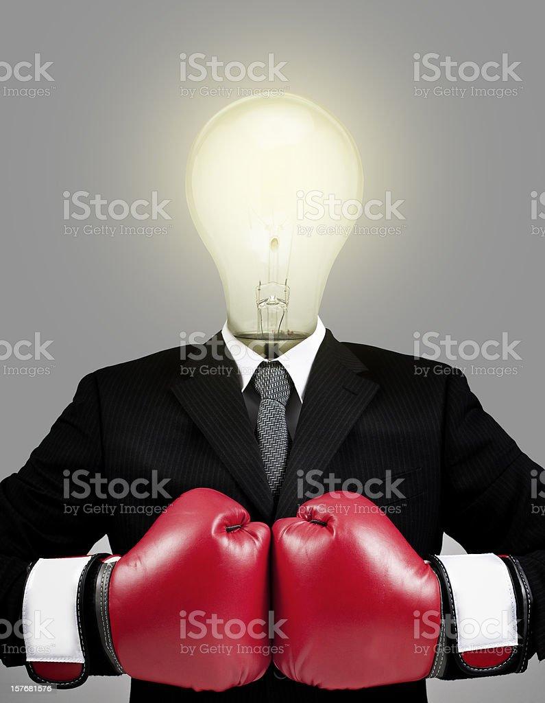 Idea light bulb businessman stock photo