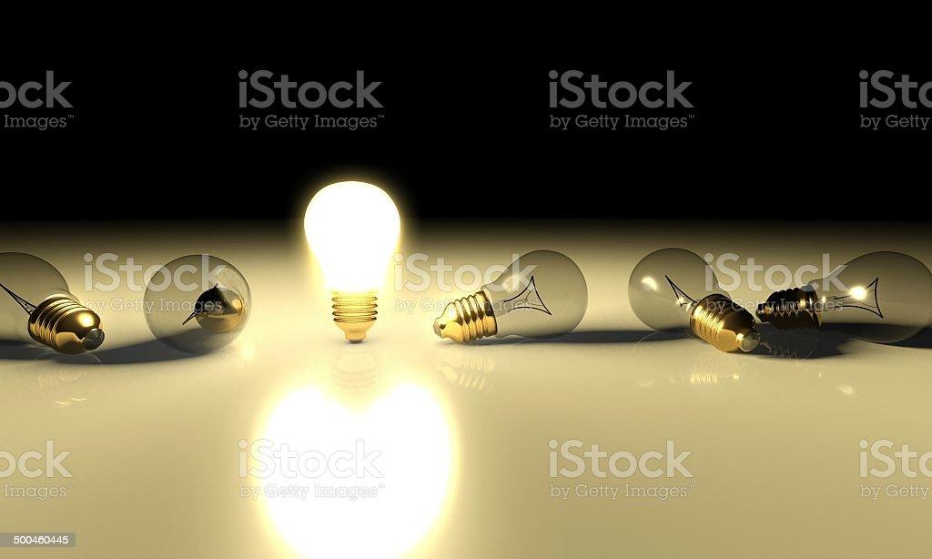 Idea light bulb concept, copyspace royalty-free stock photo