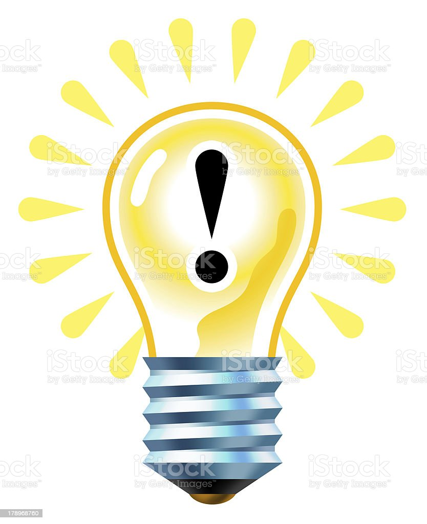 Idea lightbulb stock photo