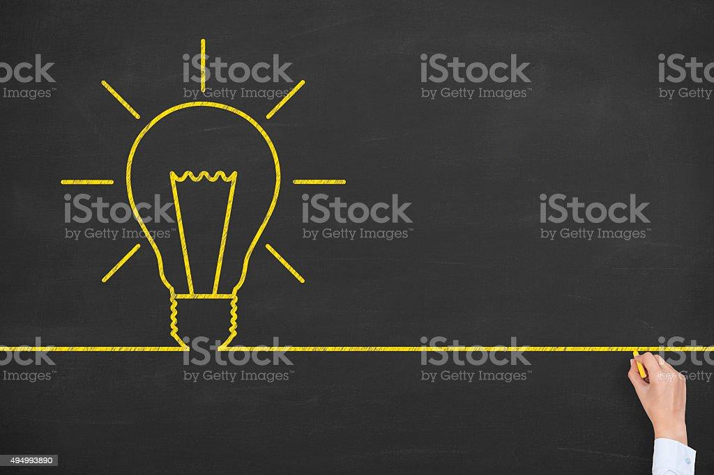 Idea Line on Blackboard stock photo