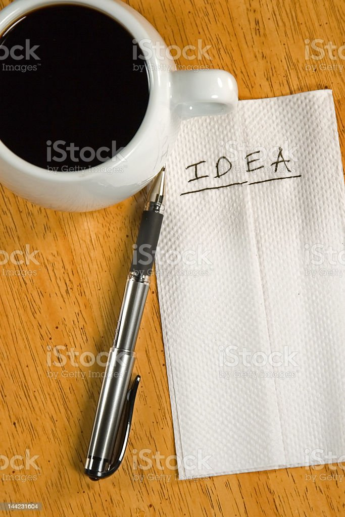 Idea on a Napkin royalty-free stock photo