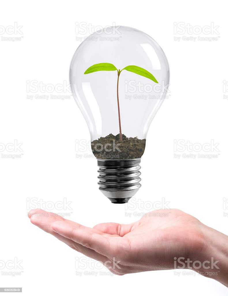 idea on hand royalty-free stock photo