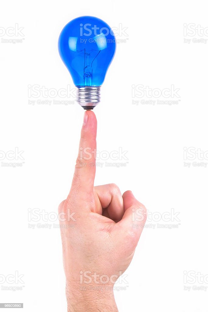Idea on the Tip of My Finger stock photo