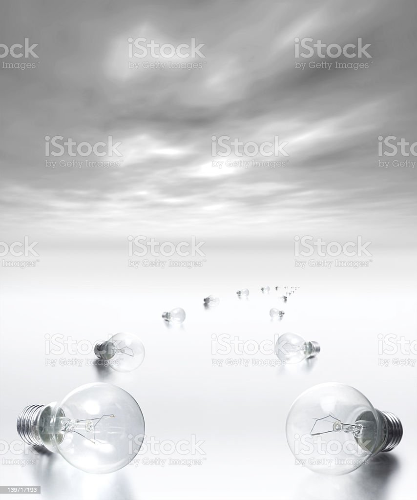 Idea Pathway - Solution is @ the end royalty-free stock photo