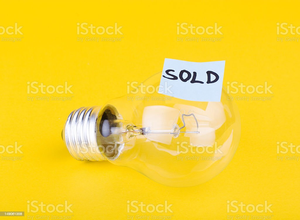 Idea sold royalty-free stock photo