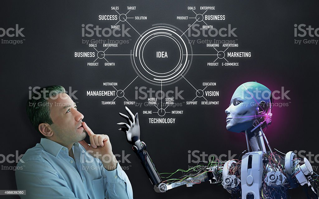 Idea Solutions in The Near Future stock photo