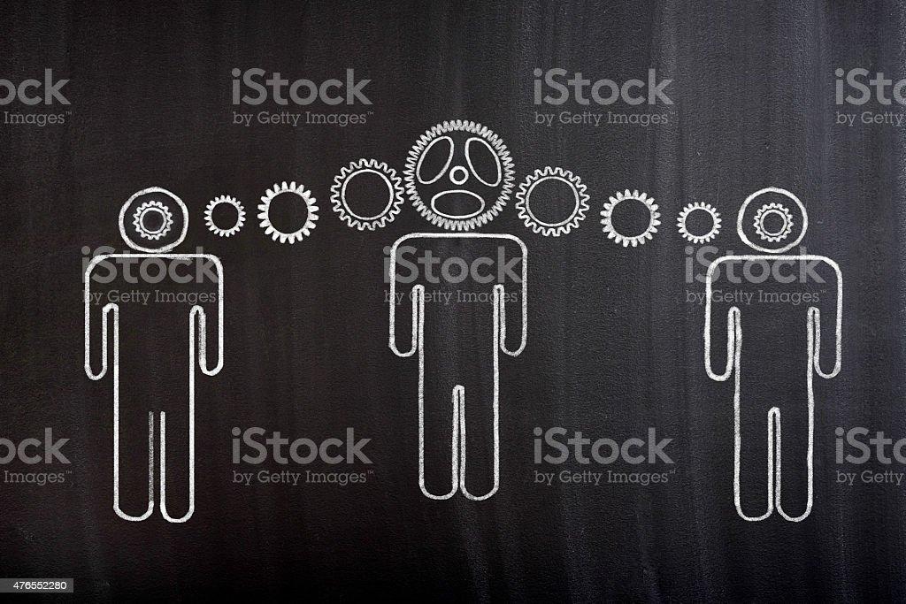 Idea teamwork stock photo