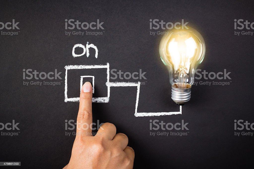 Idea turn on stock photo