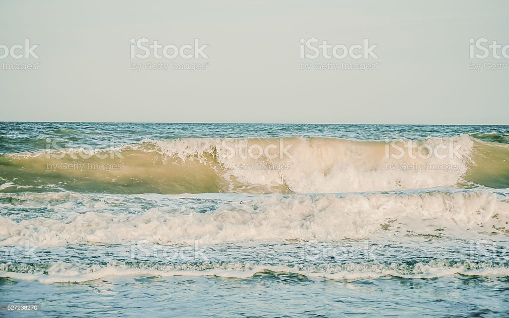 Ideal conditions for surfing stock photo