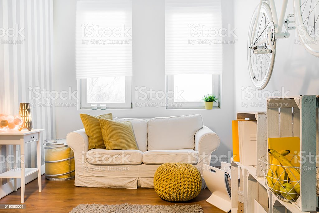 Ideal cozy space for relax stock photo