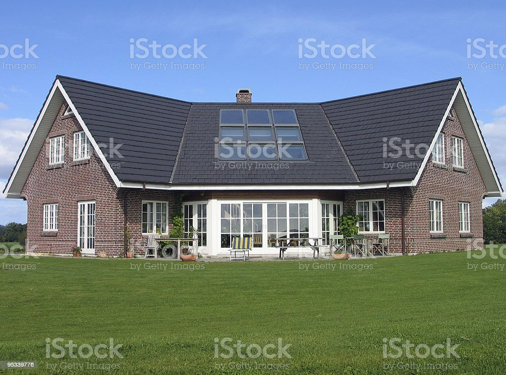 Ideal Fancy Modern House royalty-free stock photo