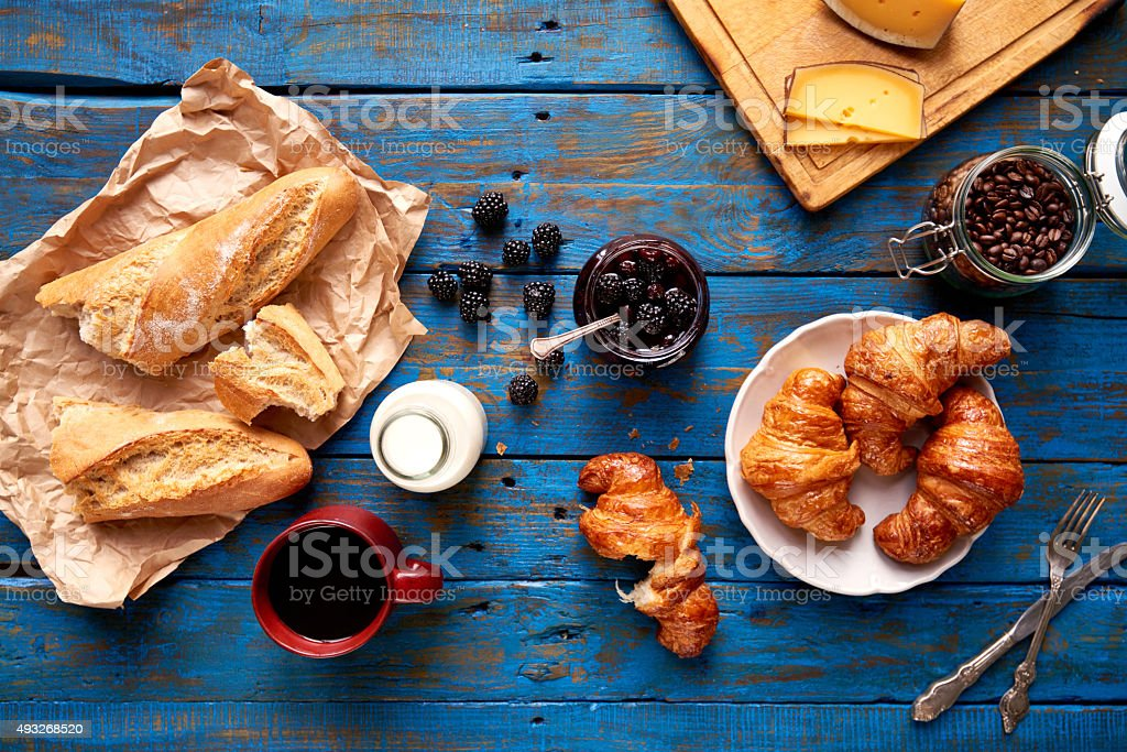 Ideal French breakfast stock photo