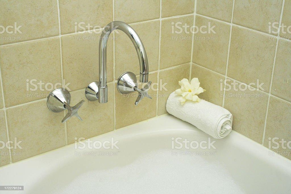 ideal hotel bath royalty-free stock photo
