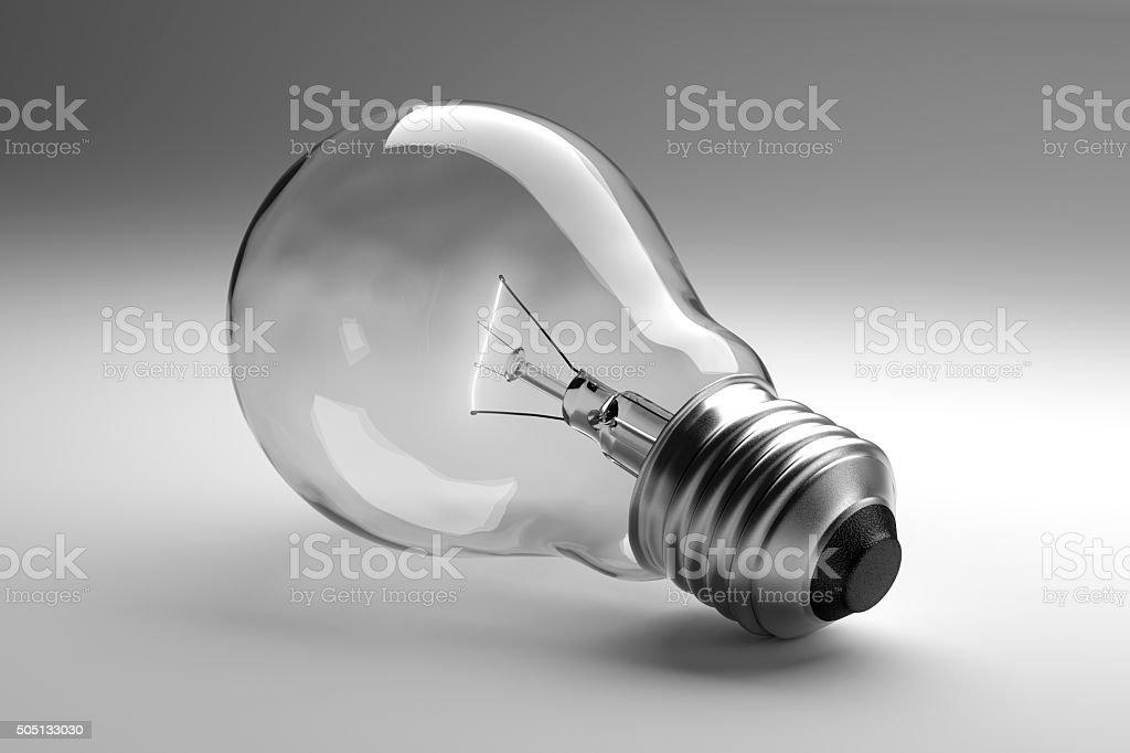 明るい背景に理想的な電球 ロイヤリティフリーストックフォト