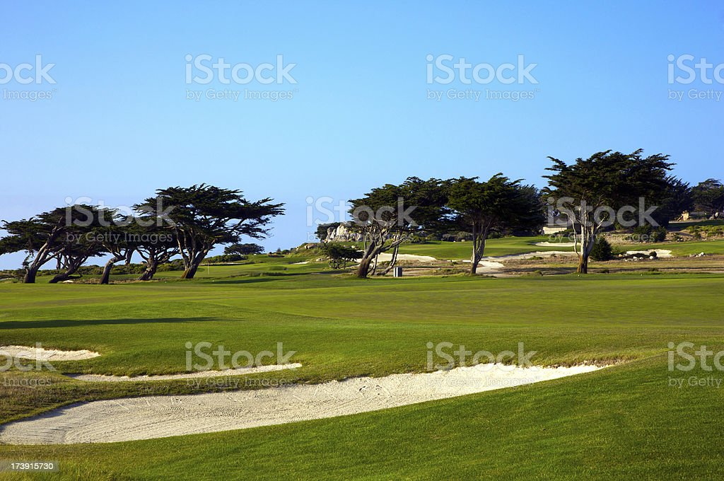 Ideal setting to play a round of golf royalty-free stock photo
