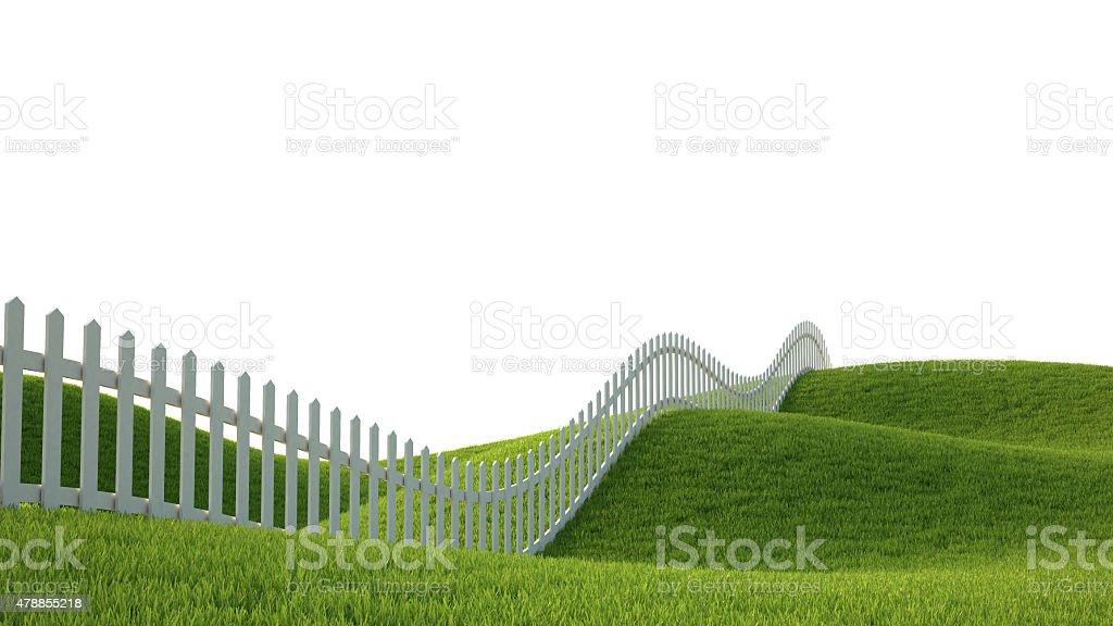 Idéalistes paysage avec barrière photo libre de droits
