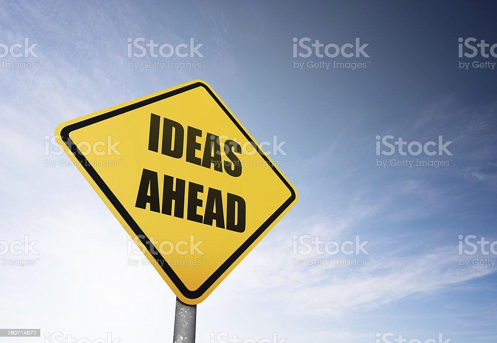 Ideas Ahead royalty-free stock photo