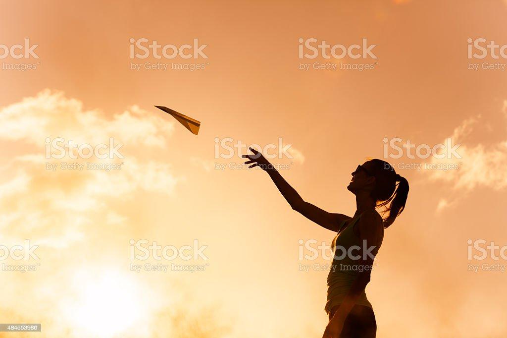 Ideas fly stock photo