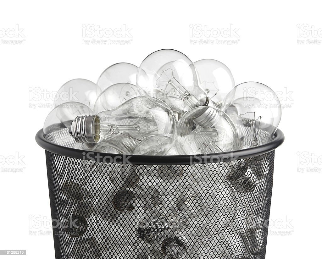 Ideas in basket royalty-free stock photo
