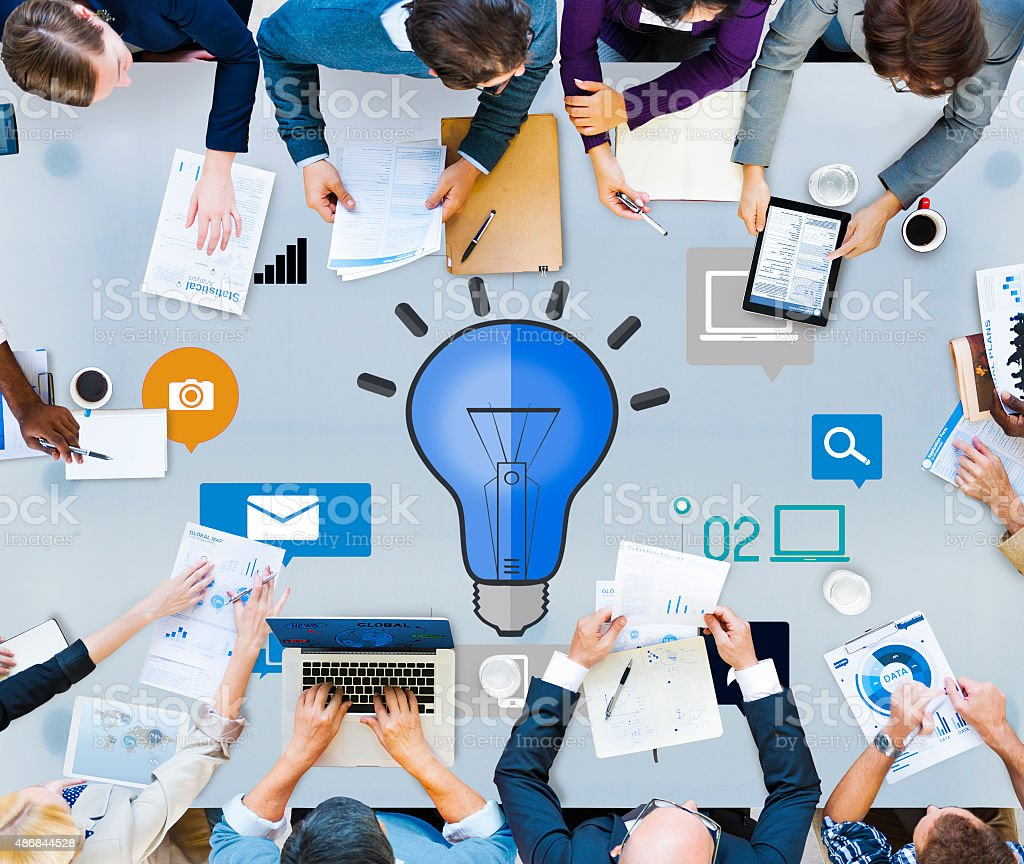 Ideas Innovation Creativity Knowledge Inspiration Vision Concept stock photo