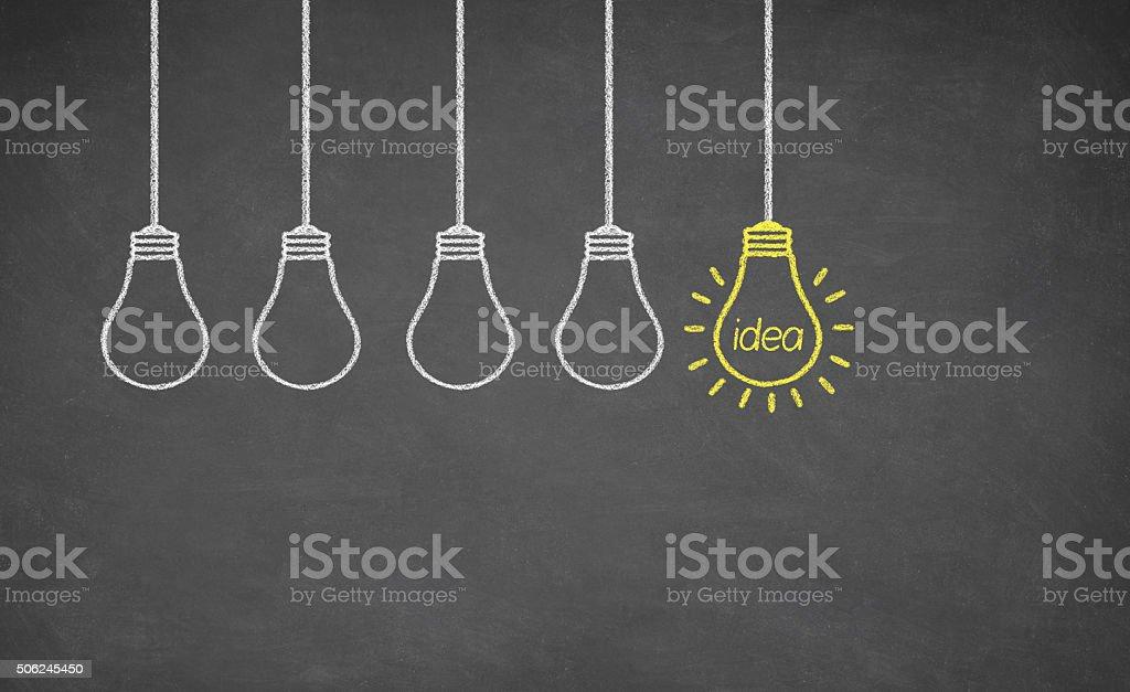 Ideas Light Bulb stock photo