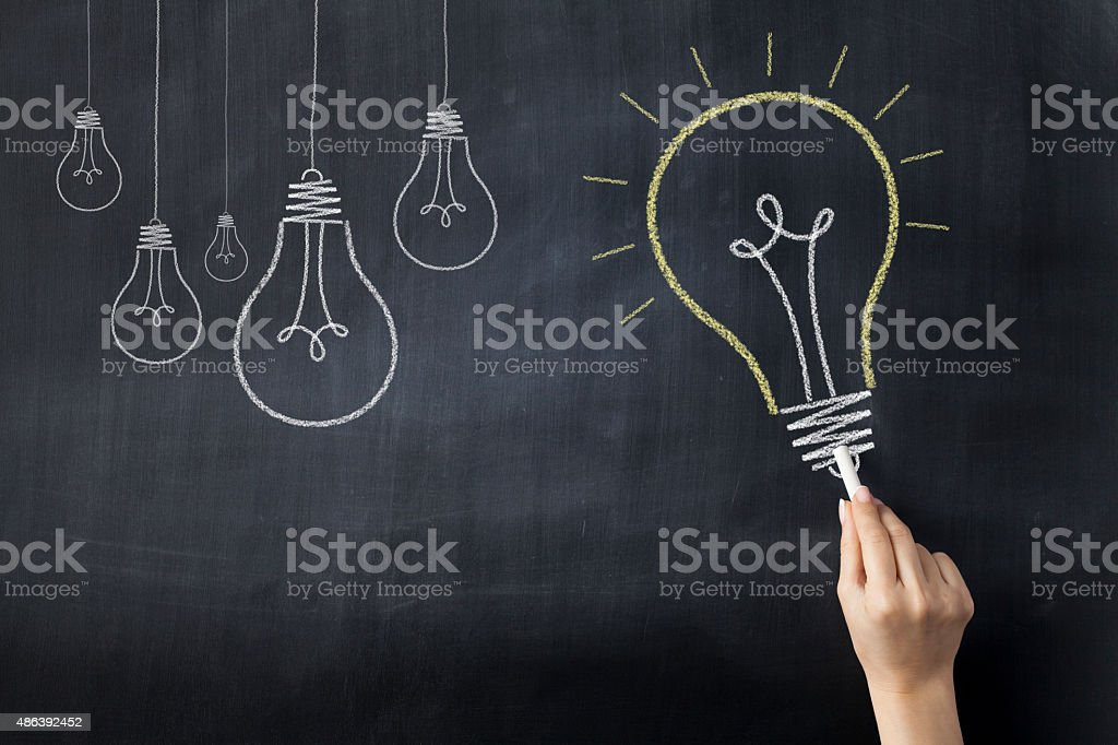 Ideas on Blackboard stock photo