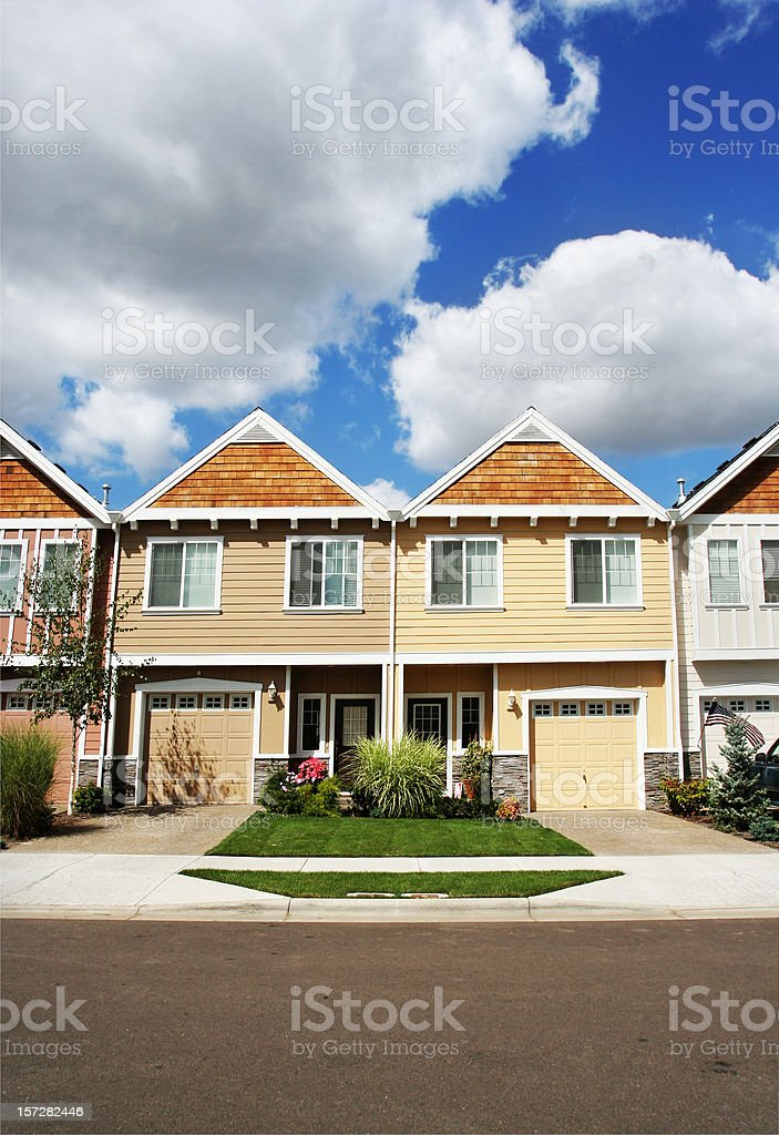 Identical New Houses stock photo