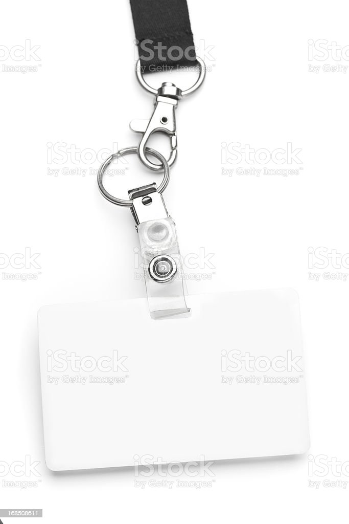 Identification Badge stock photo