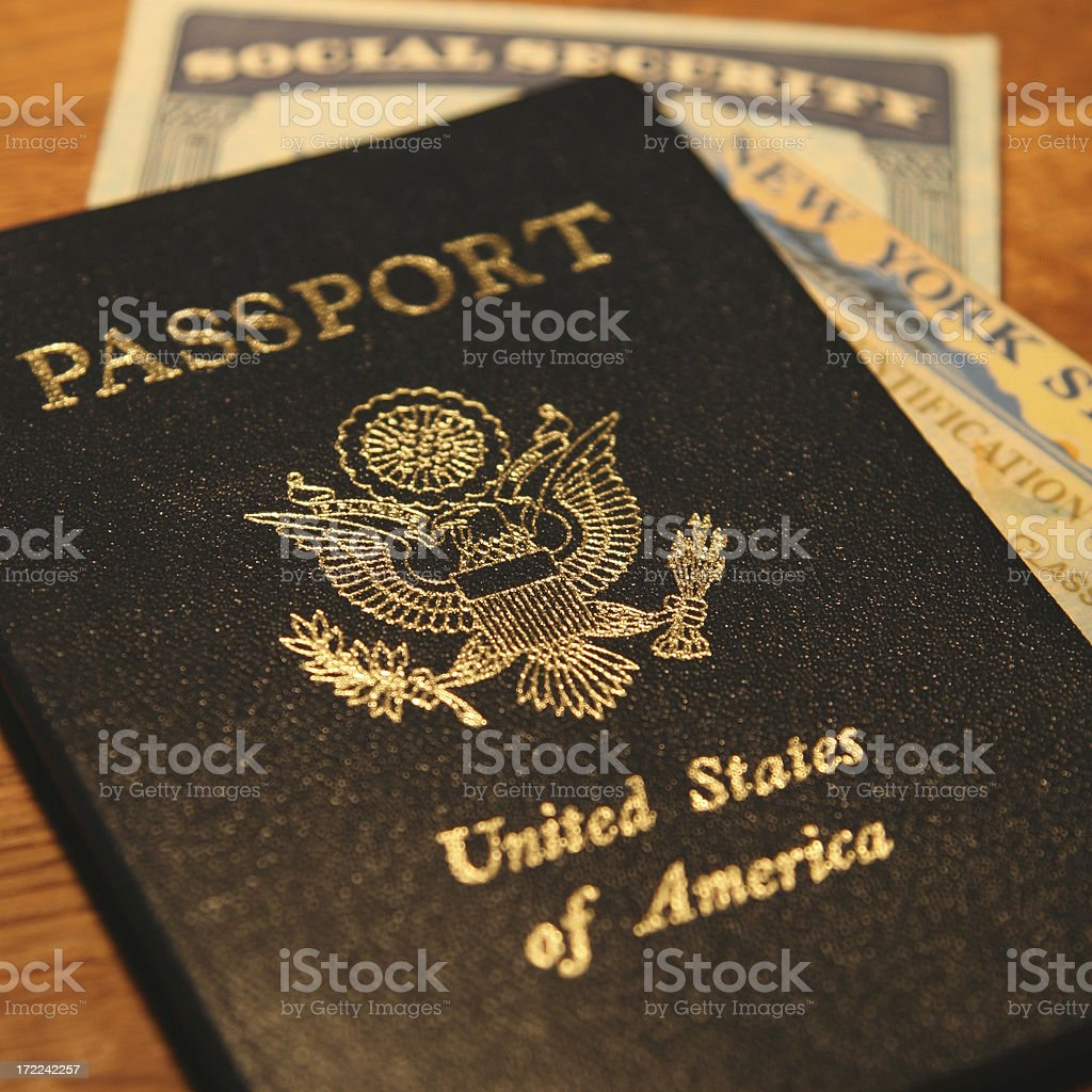 identification cards stock photo